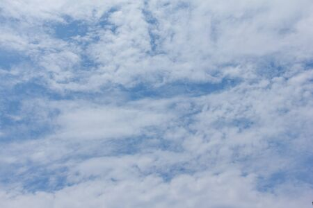 good weather: beautiful blue sky cloudy good weather Stock Photo