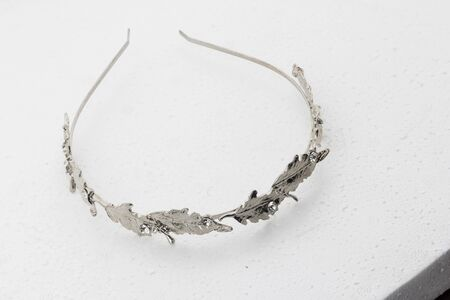 headband: luxuary silver headband on white background