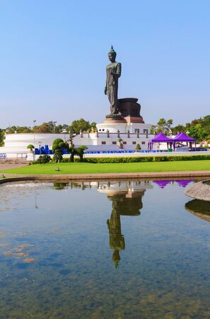 buddha statue in big garden