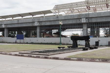 Train speed station under construction