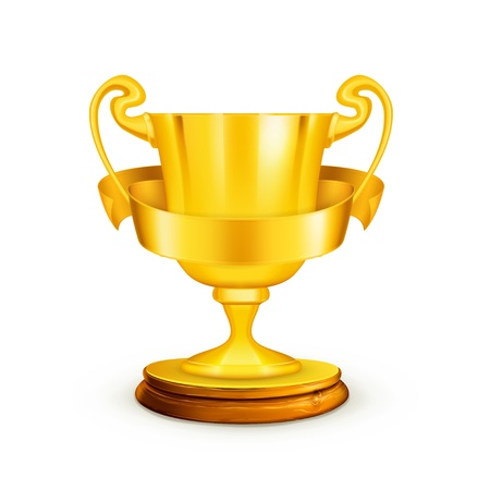 Gold trophy,illustration
