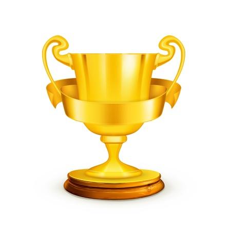 trophy award: Trofeo de Oro, la ilustraci�n Vectores