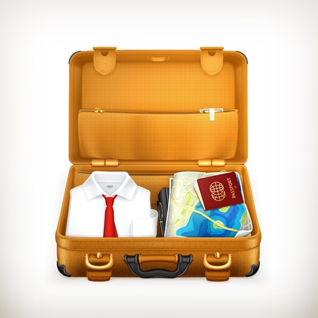 maletas de viaje: Maleta, ilustraci�n Vectores