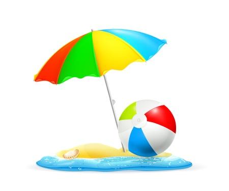 beach ball: Beach Illustration
