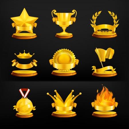 Gold awards Stock Vector - 13673014