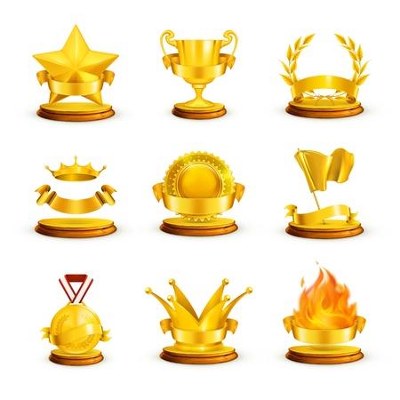 Premios de oro Ilustración de vector