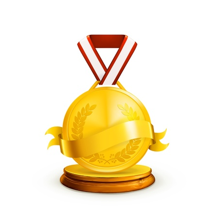 Gold Medal Stock Vector - 13680315