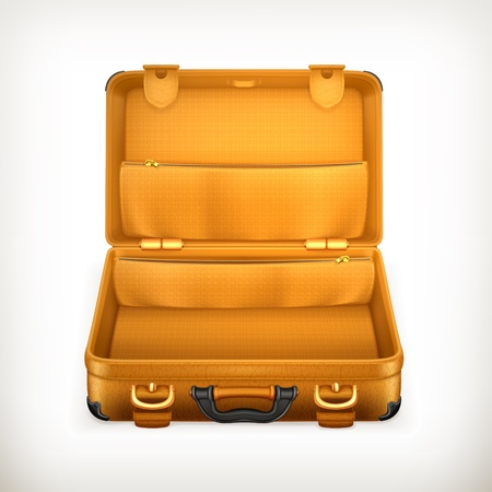 bagage: Ouvrez Suitcase Illustration