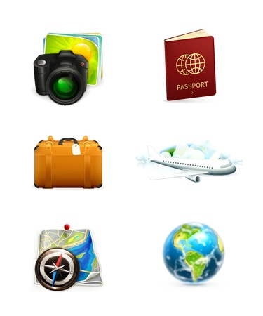 Travel icon set Stock Vector - 13673018