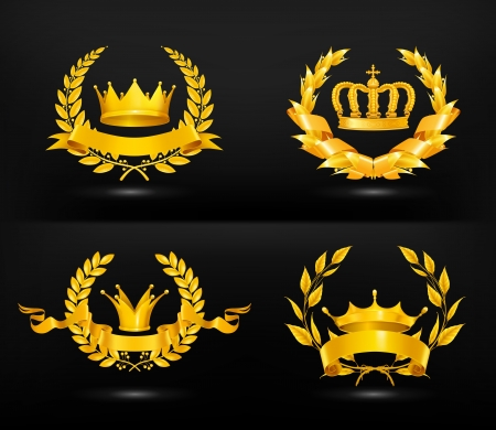 Crown King: Emblema de la vendimia Vectores