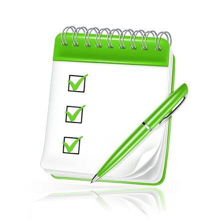 cuaderno espiral: Cuaderno espiral Vectores