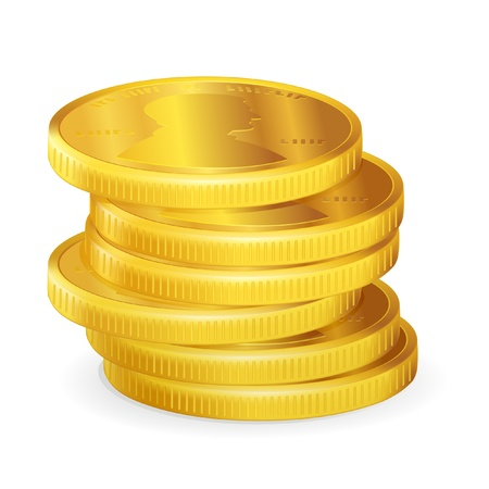 gold coins: Stacks of gold coins