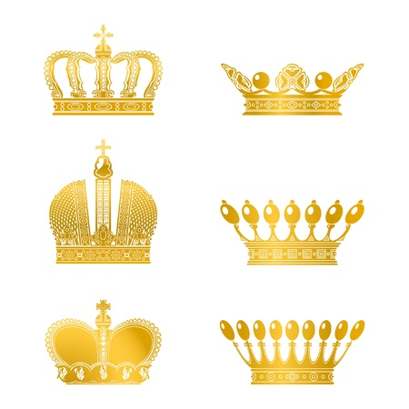 king crown: Set of Crowns, vector