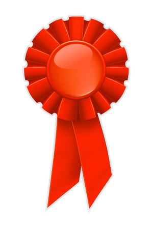 First place red ribbon Stock Vector - 13695358