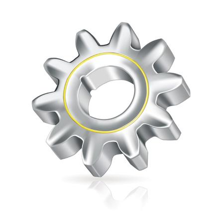 cog wheels: Gear, icon Illustration