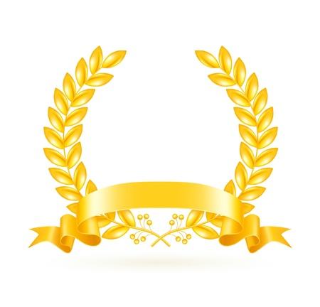 Gold Wreath Stock Vector - 13695504