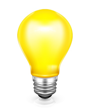 metal light bulb icon: Light bulb, icon