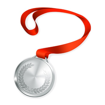 Silver Medal Stock Vector - 13695425