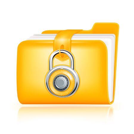 Closed folder icon Stock Vector - 13695720