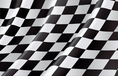 Checkered Flag Stock Vector - 13695512