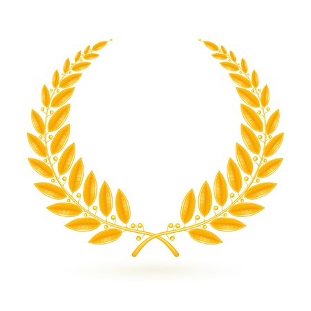 laurel leaf: Gold Laurel Wreath