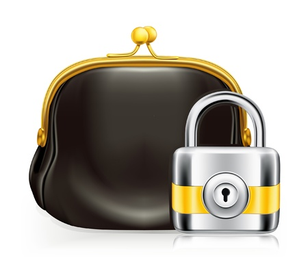 Lock and purse Stock Vector - 13695727