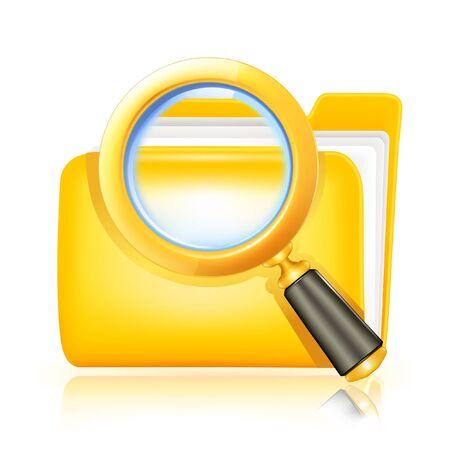 Search folder icon Stock Vector - 13695860