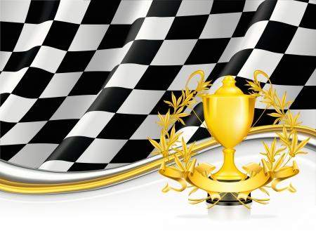 horizontal lines: Fondo con un trofeo Vectores