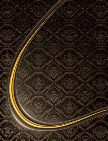 king s: Black Heraldic Background