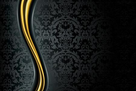 baroque: Antecedentes de Lujo Negro Vectores