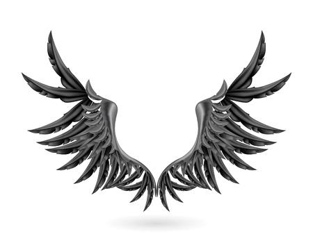 escudo de armas: Las alas negras
