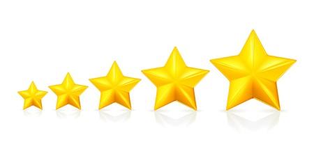 Five stars Stock Vector - 13695717