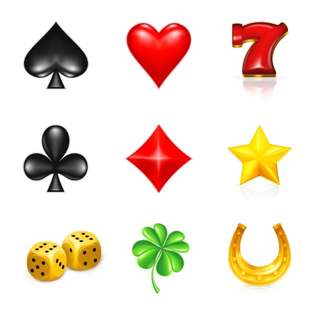 jackpot: Gambling And Luck, icon set