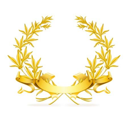 yellow jacket: Gold wreath