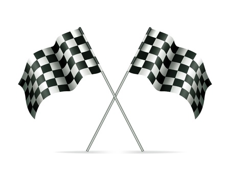 checked flag: Racing flags