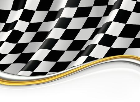 cuadros blanco y negro: Bandera a cuadros Vectores