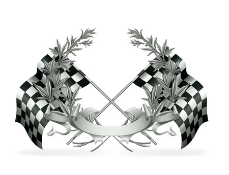 Wreath and Racing flags
