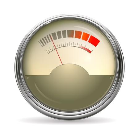 decibel: Audio Gauge Illustration