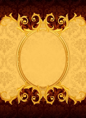 Background with the old frame Stock Vector - 13696254