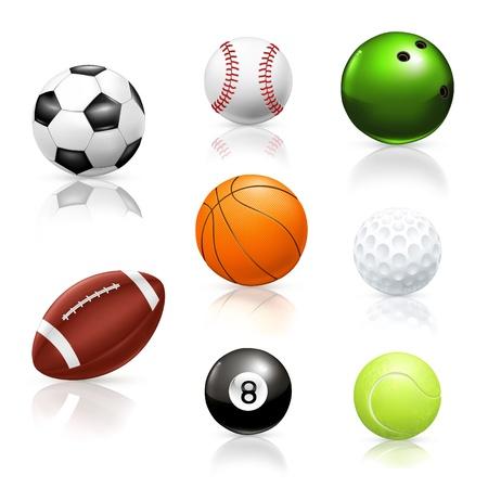 Balls, icons Vector