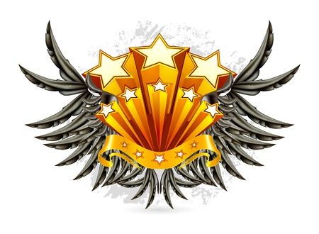 Black Wings Emblem Stock Vector - 13696253