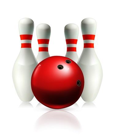 bowling ball: Bowling, illustration