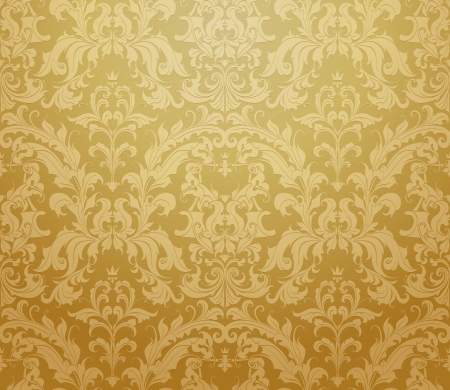 antique wallpaper: Brown seamless wallpaper pattern