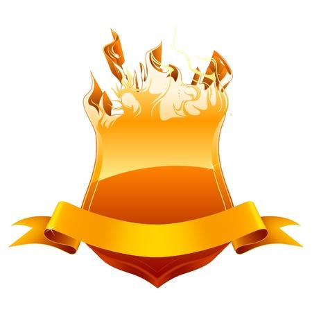 Gravure bouclier emblème