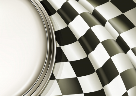 checkered flag: Background Checkered