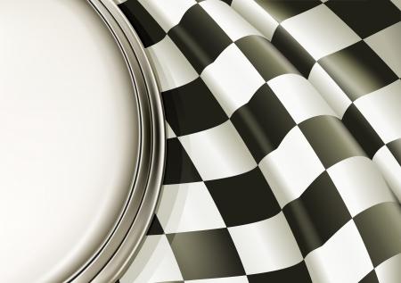 d�part course: Contexte Checkered Illustration