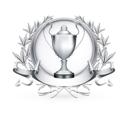 Silver Emblem Stock Vector - 13696247