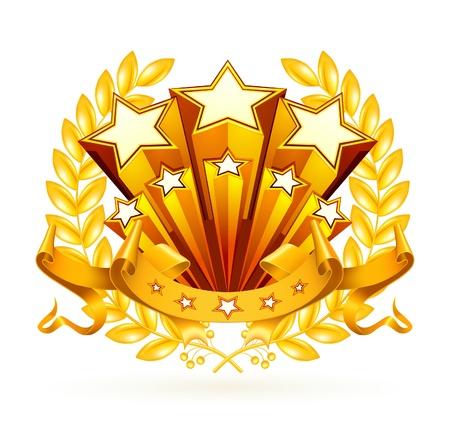 ribbon award: Laurel emblem