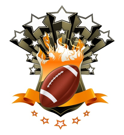 bannière football: Football américain emblème