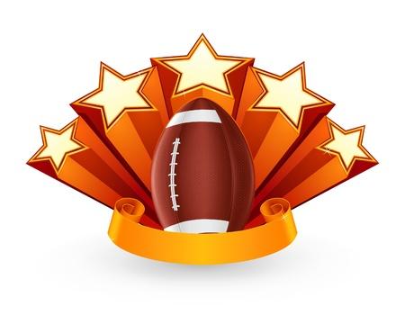 quarterback: American Football Emblem